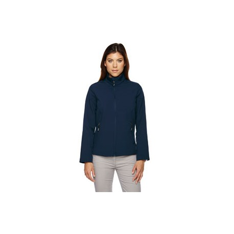 LADIES' SOFT SHELL JACKET WITH MELLING LOGO EMBROIDERED