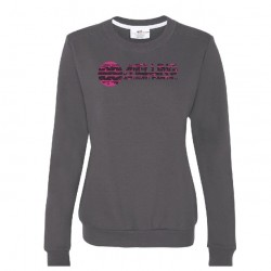 LADIES' CREWNECK SWEATSHIRT WITH MELLING LOGO EMBROIDERED