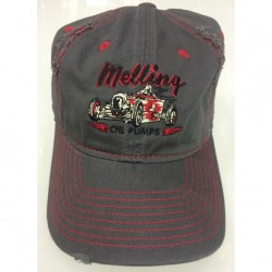 UNSTRUCTURED RIP AND DISTRESSED CAP WITH VINTAGE CAR/MELLING OIL PUMPS