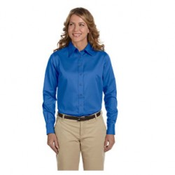 LADIES' LONG SLEEVE TWILL SHIRT WITH MELLING LOGO